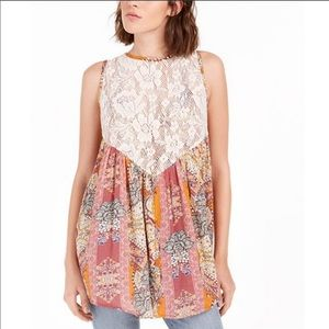Free People Count Me In Trapeze Floral Tunic